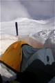 Camp II on the Spencer Glacier